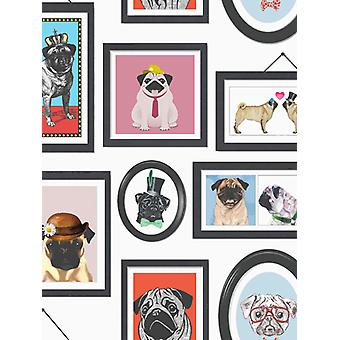A Pug's Life Pug Frames Wallpaper Holden 11360