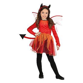 Filles Winged Devil Fancy Dress Costume