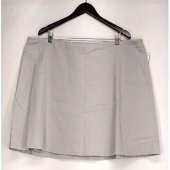 Alfani Plus Skirt Pull On A Line Style w/ Back Pockets Gray