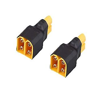 2 Pieces XT60 Parallel Connector Without Cable for Lipo RC Battery (1 XT60 Female Connector with 2 XT60 Male Connectors)
