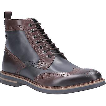 Base London Mens Banner Burnished Lace Up Brogue Boot