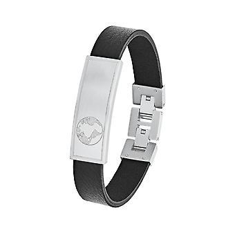 s.Oliver Jewel Herren Armband Edelstahl Leder Identarmband 2026125
