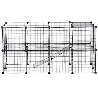 PawHut Metal Mesh Small Animal Playpen with Mallet, Connectors and Cable Ties 36 pcs