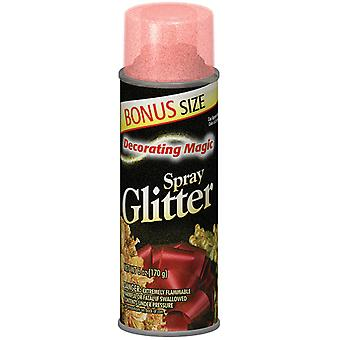 Decorating Magic Spray Glitter 6 Ounces Red Dmsg 0529