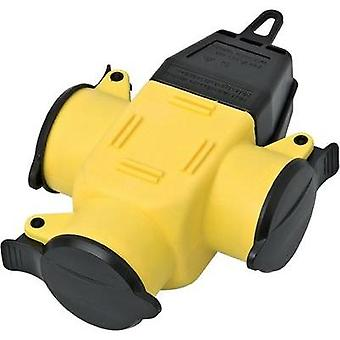 3-way connector Rubber 230 V Yellow, Black IP44 interBär 9007-006.01