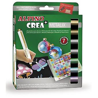 Alpino Create Alpine + Metalix 7 Highlighters (Toys , School Zone , Drawing And Color)