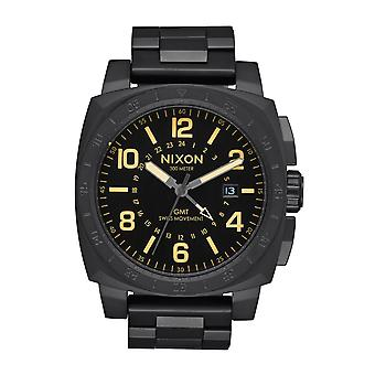 Nixon le chargeur GMT All Black / Lum (A1088-1256)
