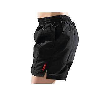 Boys Solid Tactel Short - Black