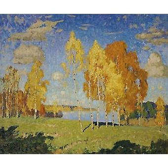 Landscape With Birch Trees Poster Print by  Konstantin Ivanovich Gorbatov