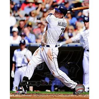 Chase Headley 2011 Action Sports Photo