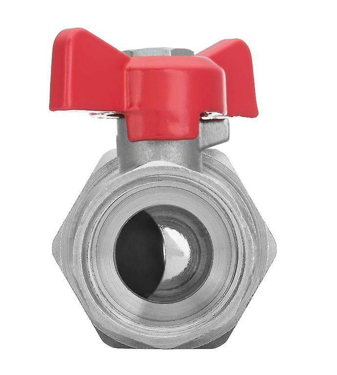 1/2inch BSP Female x Male Water Valve Red Handle With Flare