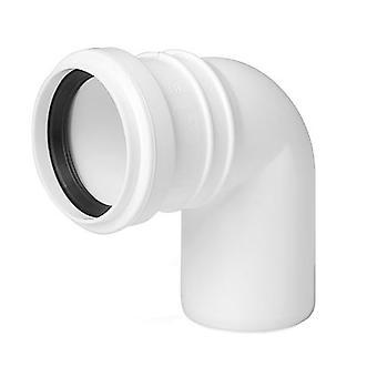 Avlopp armbåge Connector gemensamma 32mm röret Diameter 90deg monteringsvinkeln