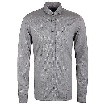 BOSS Orange Cattitude Grey Marl Textured Jersey Slim Fit Shirt