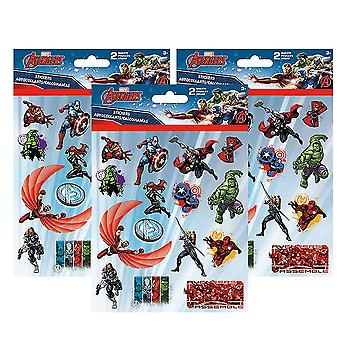 The Avengers samle 3-Pack Sticker sæt