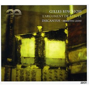 Discantus - Gilles Binchois: L'Argument De Beaut [CD] USA import