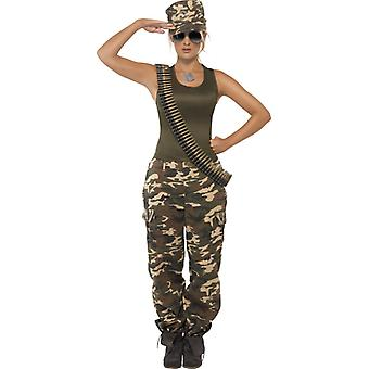 Army costume ladies military army soldier suit soldier