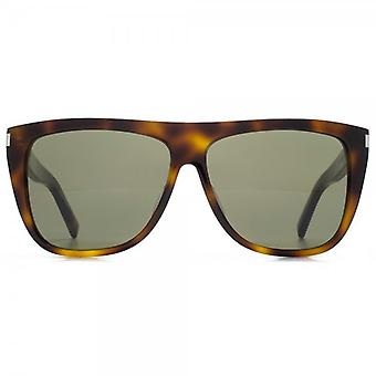 Saint Laurent SL 1 Sonnenbrille In Havanna grün