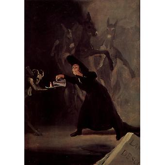 Francisco de Goya - Witch Poster Print Giclee