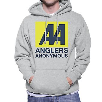 Anglers Anonymous AA Logo Fishing Men's Hooded Sweatshirt