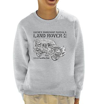 Haynes eiere Workshop manuell Land Rover Overland svart barneklubb Sweatshirt