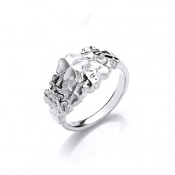 Cavendish French Silver four leaf clover cluster ring