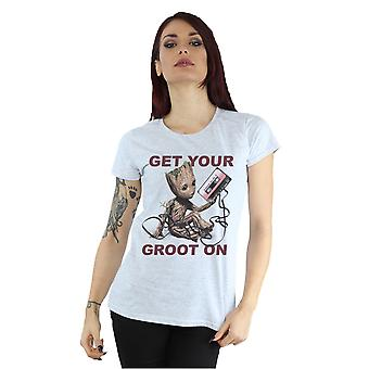 Marvel Women's Guardians of the Galaxy Get Your Groot On T-Shirt
