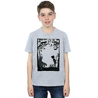 Мальчиков Книга джунглей Дисней силуэт плакат футболку
