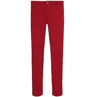 sheego pants women's jeans in plus size red short size 5-Pocket style