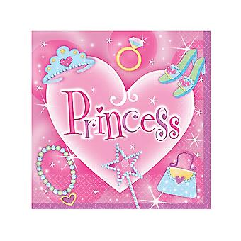 Unique Party Pretty Princess Lunch Napkins (Pack Of 16)