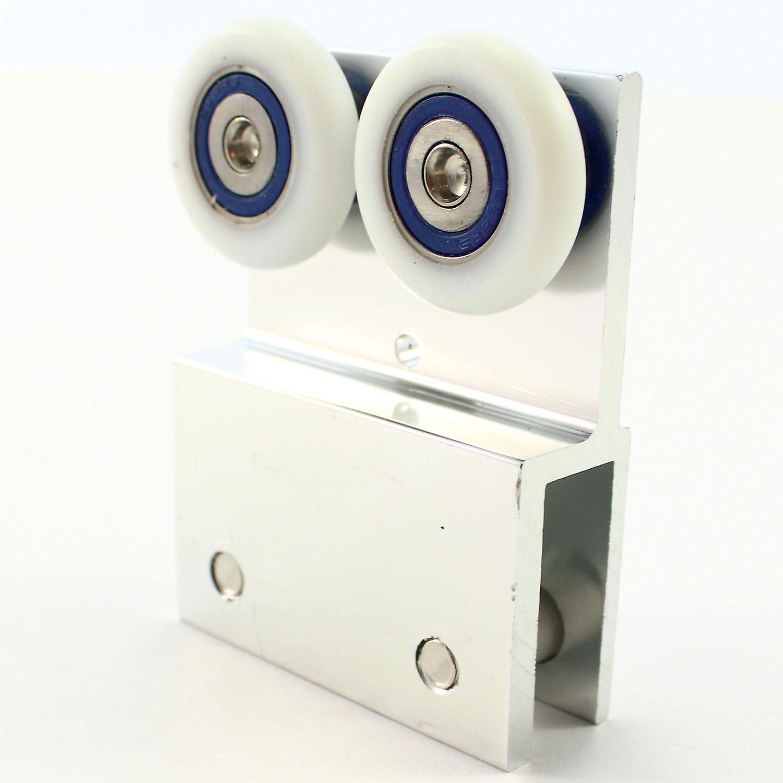 26mm Metal Bracket Two Wheel Hanging Roller