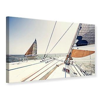 Lærred Print Yacht