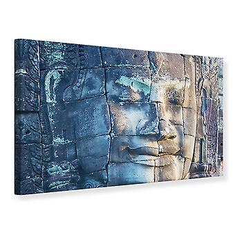 Canvas Print Buddha in Rock