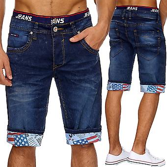 Oversize short Boxer style pants denim men's jeans shorts summer W34 - W46 new