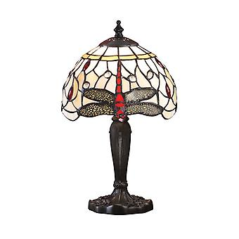 Dragonfly mellanliggande Tiffany stil Beige bordslampa - interiör 1900 64087