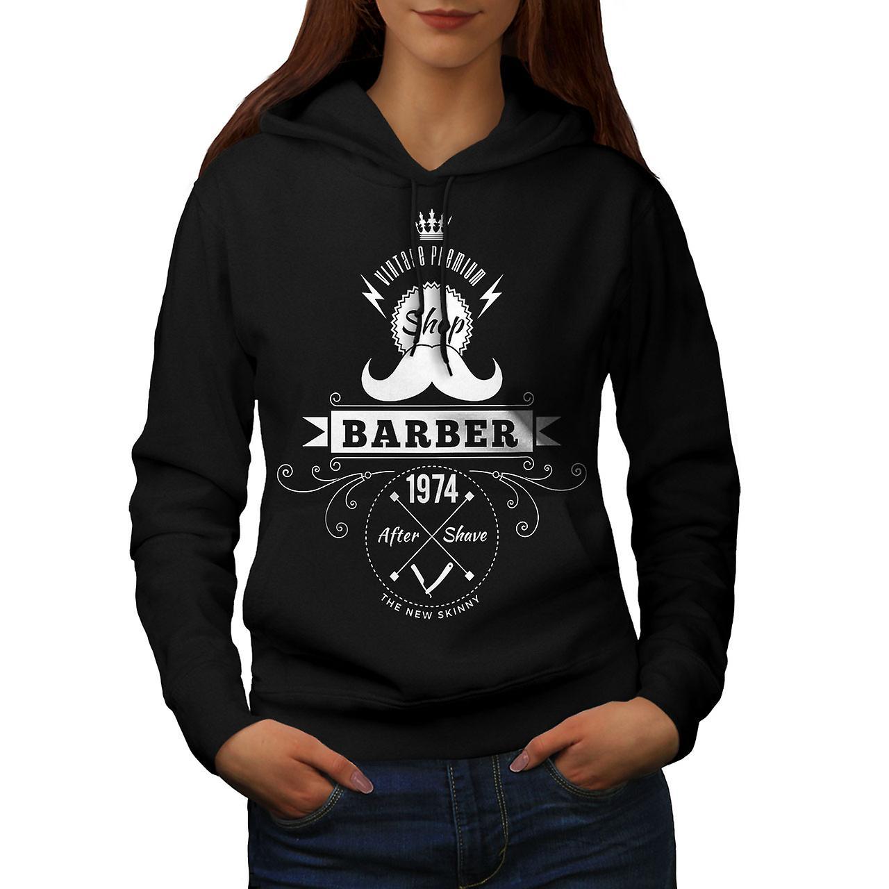 Barber Shop Women BlackHoodie | Wellcoda