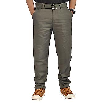 Mens Relaxed fit Chino Pants Olive