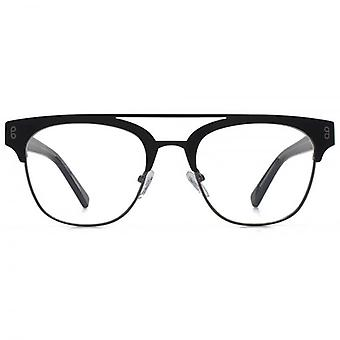 Hook LDN Faraway Stainless Steel Browline Glasses In Black