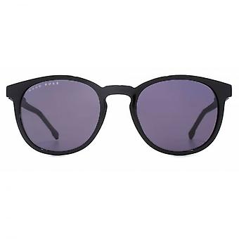 Hugo Boss Essential Keyhole Round Sunglasses In Black