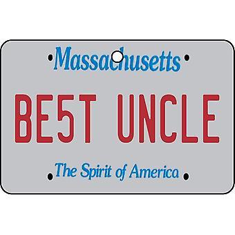 Massachusetts - Best Uncle License Plate Car Air Freshener