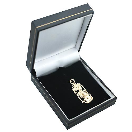 9ct Gold 33x17mm Libra Zodiac Pendant