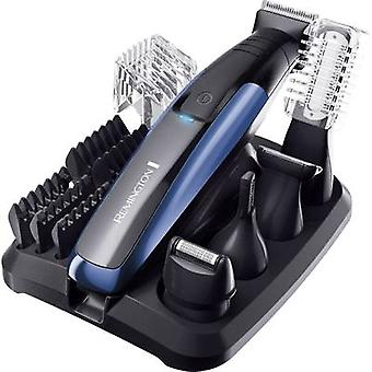 Body hair trimmer, Hair clipper, Beard trimmer Remington PG6160 GroomKit Lithium washable Black, Blue-ice blue