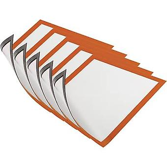 DURABLE MAGNETIC A4 DURAFRAME ORANGE 5ER