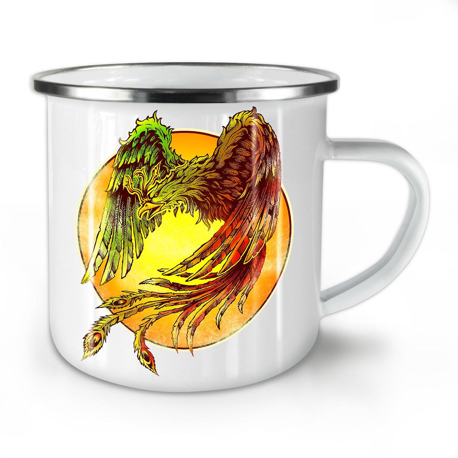 Émail OzWellcoda Café Mug10 Oiseau Nouvelle Whitetea Mystique L34Rq5jA