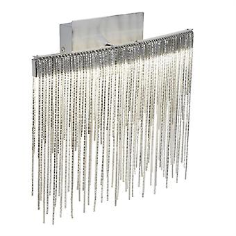 Memphis Satin Silver Waterfall LED Wall Light - Searchlight 6052SS