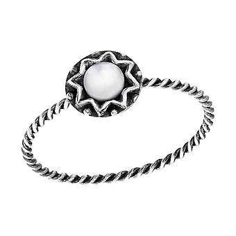 Round - 925 Sterling Silver Jewelled Rings - W33764X