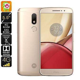 Lenovo Moto M Android Smartphone - Android 6.0, Dual-IMEI, 4G, fingeraftryk, Octa-Core CPU, 4 GB RAM, 5.5-tommer skærm (guld)