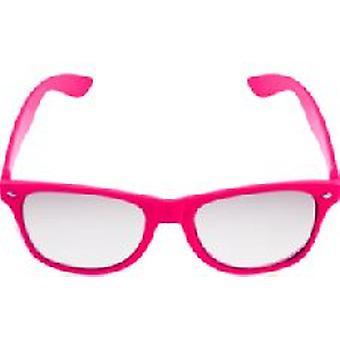 Pink Neon Clear Lense Wayfarer Glasses