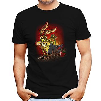 Wile E. Coyote Roadrunner Deathnote Mix mannen T-Shirt
