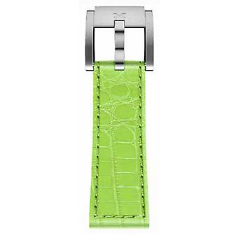 TW Steel Marc Coblen Bracelet Watch band 22 MM Croco cuir clair vert LB_HG_K_S