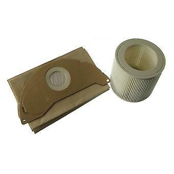 Sacchetti di polvere si adatta Karcher IPX4 MV2 Wet & Dry Vacuum Cleaner e